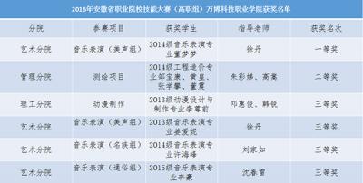 我院在2016年安徽省职业院校技能大赛(高职组)比赛中取得优异成绩